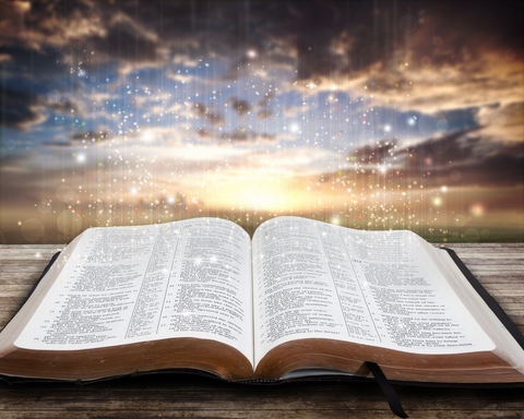 http://www.dreamstime.com/royalty-free-stock-photo-glowing-bible-sunset-image26776585